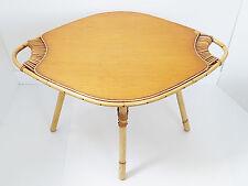 TABLE BASSE 50's EN ROTIN BAMBOU OSIER 1950 VINTAGE ROCKABILLY ANNEES 50