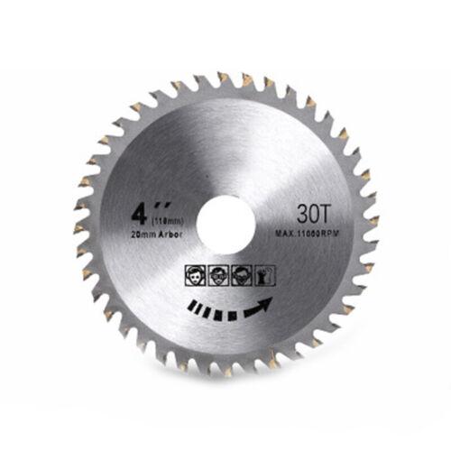 Lame de scie Disque pour meuleuse d/'angle 115 mm Bois Coupe Disque Circulaire 30-80 dents