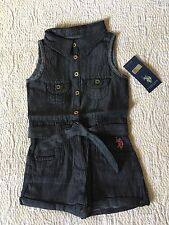 U.S. POLO ASSN. Denim One Piece Outfit Romper Size 2T NEW