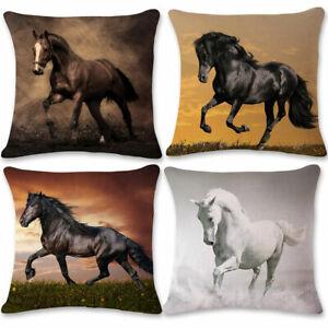Am-Horse-Animal-Print-Soft-Linen-illow-Case-Cushion-Cover-Home-Office-Decor-Hea