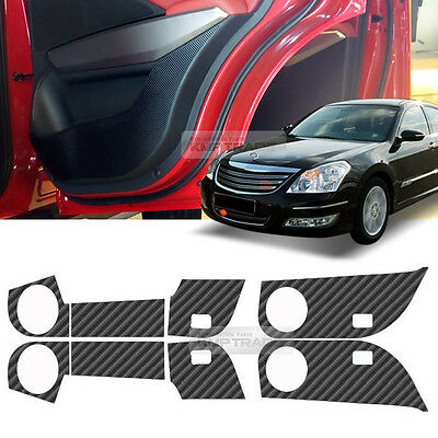 Carbon Door Sticker Cover Kick Protector A-Type For