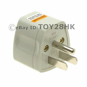 usa canada grounded travel adapter convert eu gb au china. Black Bedroom Furniture Sets. Home Design Ideas