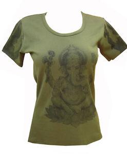 Ladies Womens Indian Ganesh T-shirt Vest Singlet Tshirt Top India Manga Anime