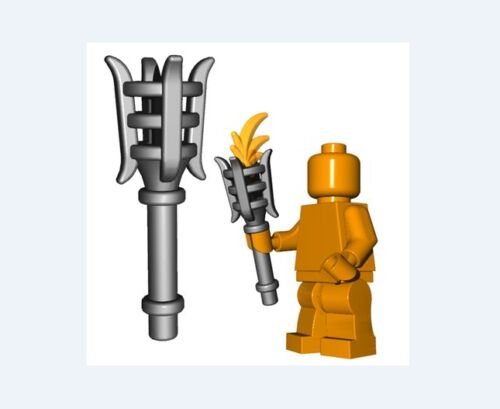 Metal torch for Lego Minifigures accessories