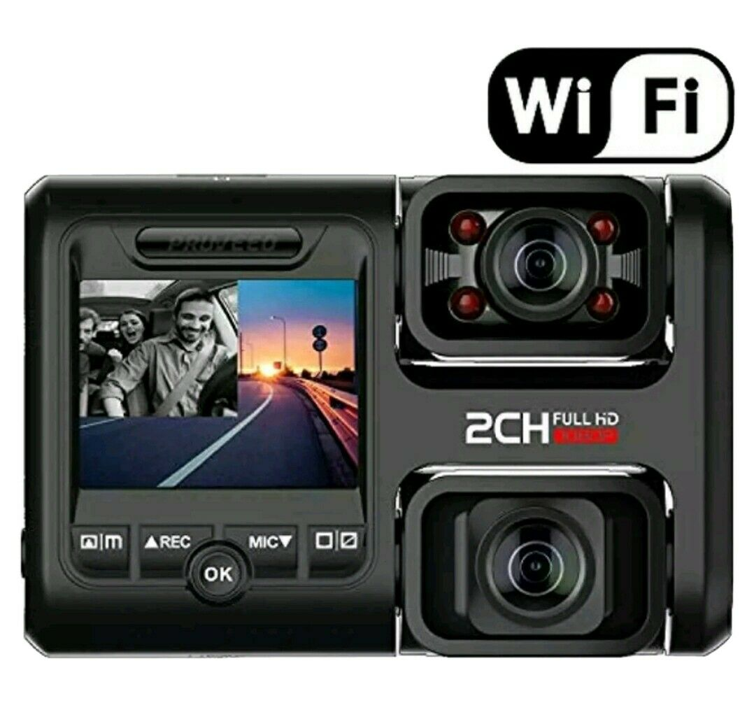 Pruveeo D30H Dash Cam Dual 1080P Front and Inside with Night Vision 1080p and cam d30h dash dual Featured front inside pruveeo with