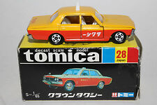 TOMICA BLACK BOX #28 TAXI TOYOTA CROWN 1/65 TOMY DIECAST CAR