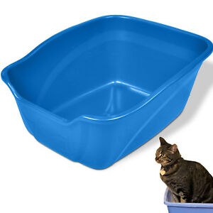 EXTRA LARGE CAT LITTER BOX High Sided Big Kitty Pan Pet Animal Giant Size Plasti