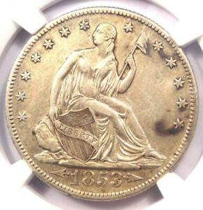 1853-O-Arrows-amp-Rays-Seated-Liberty-Half-Dollar-50C-Certified-NGC-XF-Details