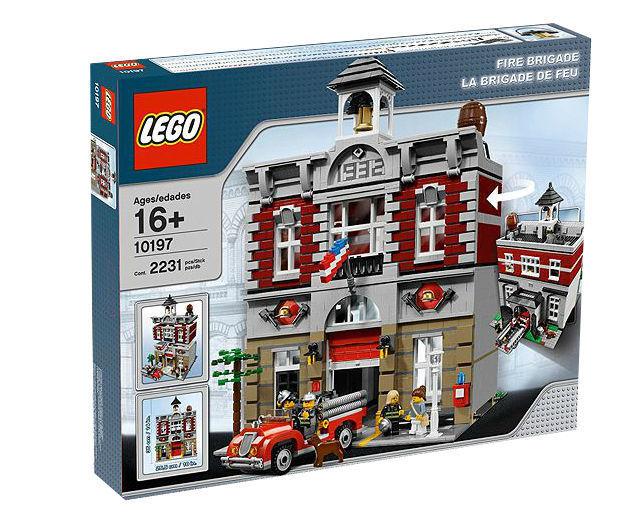 LEGO -  FIRE BRIGADE 10197  2009 SET RETIRED BRAND NEW IN SEALED BOX PLUS BONUS