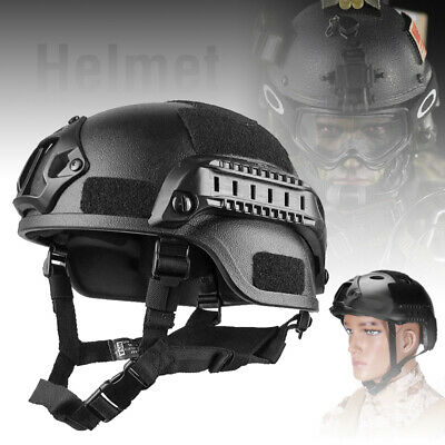Tactical Airsoft Black Helmet Paintball Military CS Game Field Protective Helmet