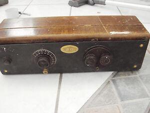 Atwater-Kent-33-Receiving-Set-Radio-1920-039-s-Coronado-01A-12A-Sylvania-01A-Tubes