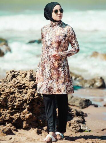 Tesettür Mayo Hijab,Badeanzug Bademode Swimwear M-847 Hasema Burkini