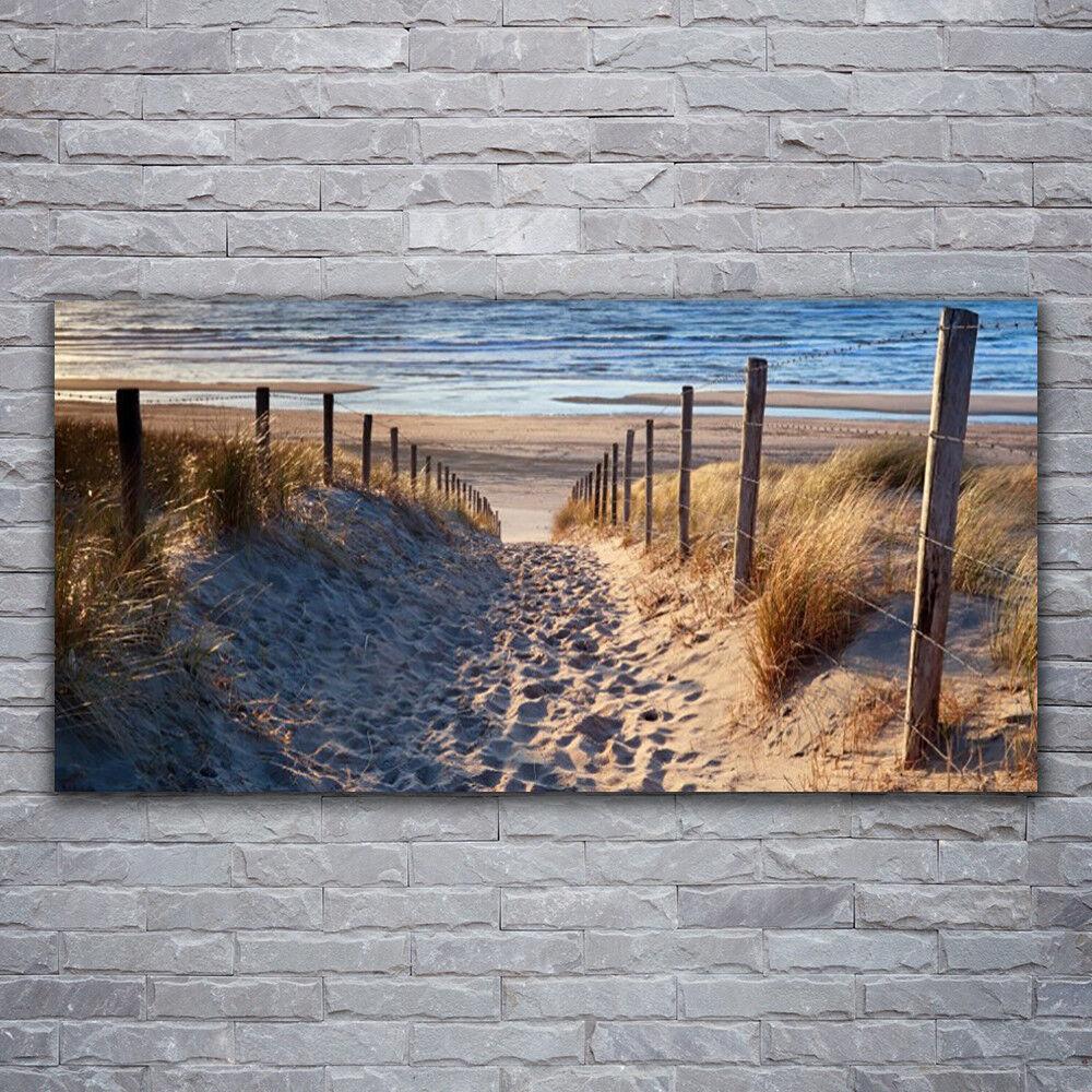 Photo sur toile Tableau Image Impression 120x60 Paysage Mer Sentier