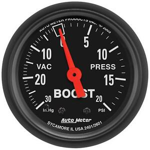 Auto-Meter-2601-Gauge-Vac-Boost-2-1-16-034-30inHg-20psi-Mechanical-Z-Series