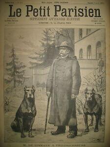 BISMARCK-A-FRIEDRICHSRUHE-ET-SES-CHIENS-CAMP-DE-SATHONAY-LE-PETIT-PARISIEN-1895