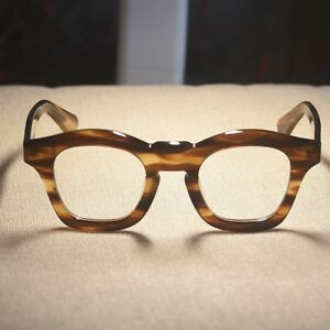 f334c56ba6a Image is loading Japan-handmade-italy-acetate-eyeglasses-frame-vintage -womens-