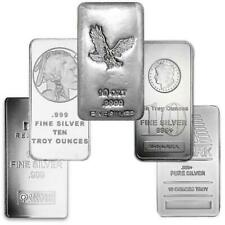 Generic Silver 10 oz Bar | Lot of 5