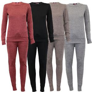 dernière vente économiser jusqu'à 60% où acheter Détails sur Femmes Mélange Vêtement de Loisirs Ensemble Pull Survêtement  Jogging Pantalon