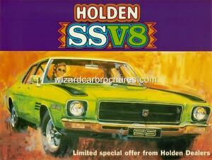 1972 HOLDEN HQ SS V8 A3 POSTER AD SALES BROCHURE MINT ADVERTISEMENT ADVERT