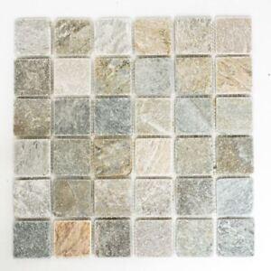 Mosaico-piastrella-Quarzite-pietra-naturale-quarzite-Beige-Grigio-bagno-e-WC-36-0204-f-10-Tappetini
