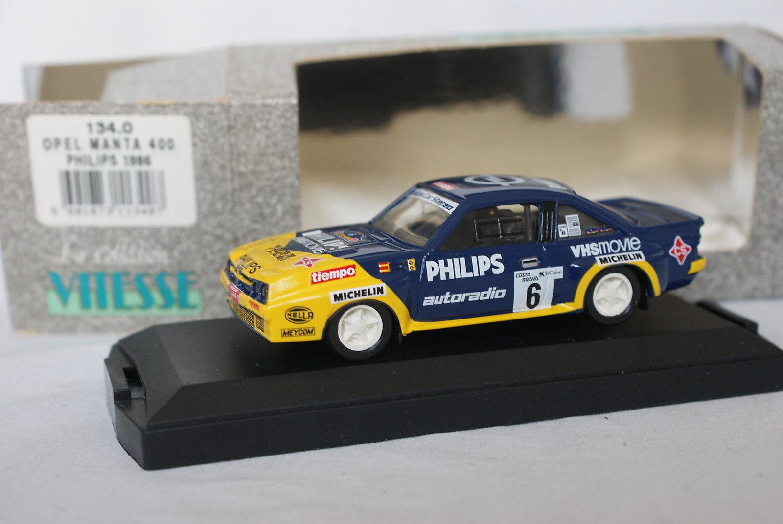 Vitesse 1 43 - Opel Manta 400 Philips Costa Brava 1986 + box