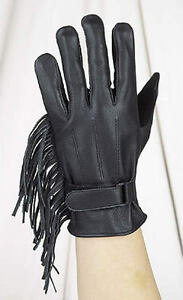 LEATHER GLOVES WITH FRINGE SIZES XSMALL TO 3XL $SALE $SALE $SALE ULG2082