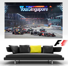 F1 Singapore Night time GP GIANT Wall Art POSTER PRINT ART in ONE PIECE