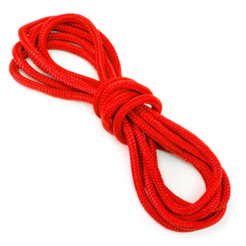 """Red 15 ft Marine-Grade Double-Braided Nylon Dockline Rope 3//8/"""" Thick"""