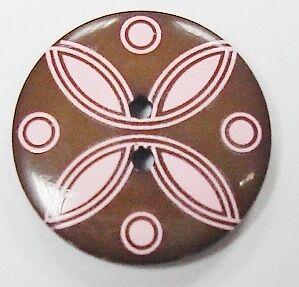 2.45 euros//unidad Mode botón marrón rosa 25mm
