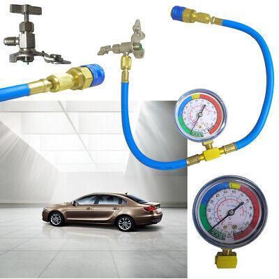 Car R134A Hose A//C Air Conditioning Refrigerant Recharge Hose With Gauge
