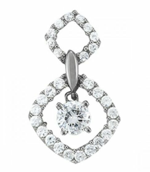 1.00 FOREVER ONE MOISSANITE ROUND DANGLE HALO PENDANT