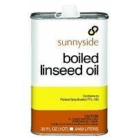 Boiled Linseed Oil Fortifies Oil-based Paints & Penetrates and Protects Wood 1qt