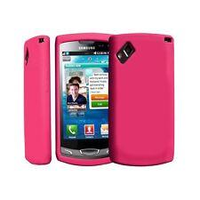 housse étui coque en silicone rose fuchsia pour Samsung Wave 2 s8530