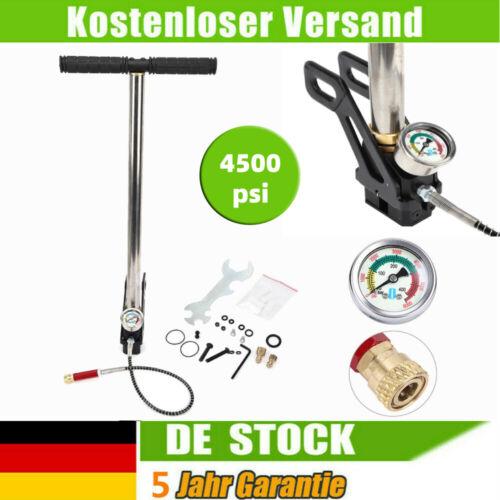 4500psi Hochdruck Standpumpe Luftpumpe Handpumpe für Fahrradreifen Kajaks NEU