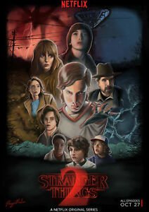 Art Print POSTER CANVAS Stranger Things Season TV Series Silk