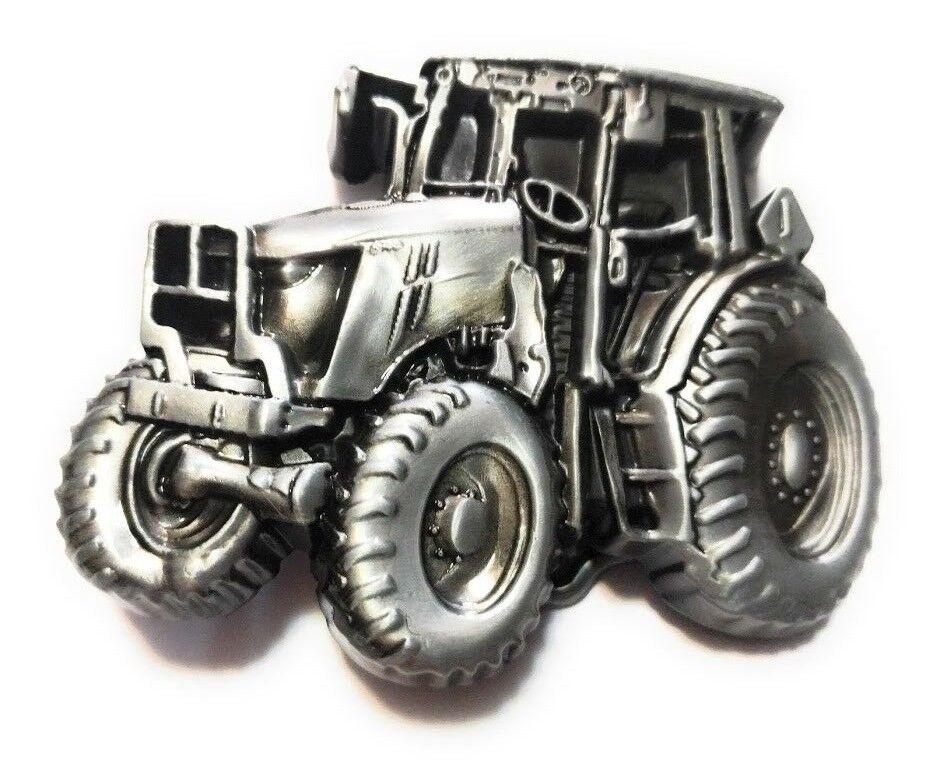 ♈ ♈ gráficos levantado Antiguo Tractor De Color Plata para Hombre Correa Hebilla De País Granja