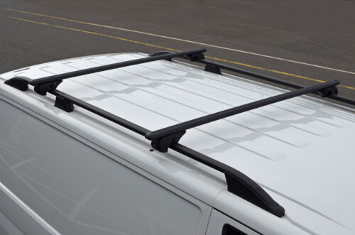Opel Combo 11 Black Cross Bars For Roof Rails To Fit Vauxhall 100KG Lockable