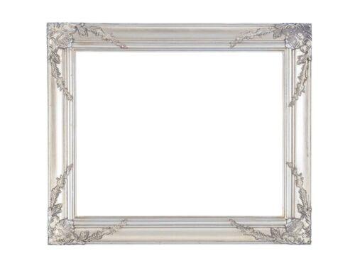 Bilderrahmen Gemälde Ölgemälde Rahmen Innenmaße 40x50cm Farbe silber Antik-Stil