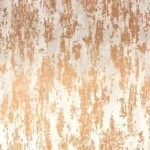 Boutique Industrial Texture Copper Metallic Chic Luxury Wallpaper G