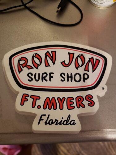 Ron Jon Surf Shop Logo Sticker Decal FT LAUDERDALE FLORIDA NEW