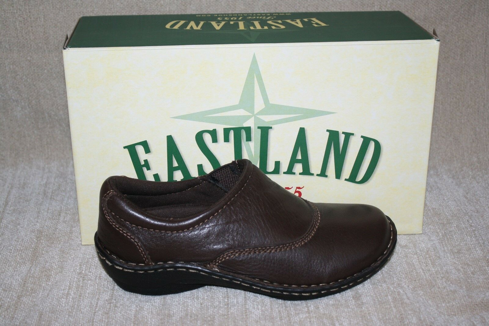 Donna EASTLAND BROWN HILLSIDE MULES-SEE SIZES (B147)