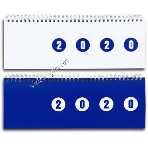 Schreib Tisch Kalender 2020 Querkalender 2 Seiten pro Wochen Planer Terminplaner