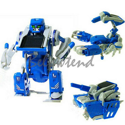 Child's Gift 3 in 1 DIY Assembly Educational Solar Power Scorpion Robot Tank Toy