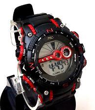 Men's Digital LCD Sports Watch Montres Carlo Mc85272 30 Meter Water Resistant