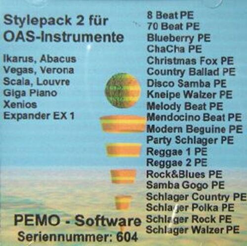 PEMO Software Stylepack 2 für Wersi OAS Instrumente