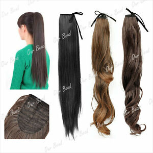 4-Colour-Wavy-Straight-Drawstring-Clip-In-Ponytail-Hair-Extension-22-034-20-034-18-034