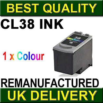 1 Colour Ink Cartridge For Canon CL38 Pixma iP2500 iP2600 iP1800 iP1900 MP190