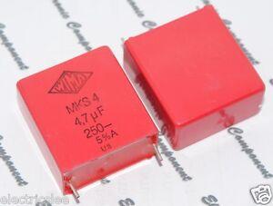 2pcs-WIMA-MKS4-4-7uF-4-7-F-4-7uF-250V-5-pitch-27-5mm-Capacitor