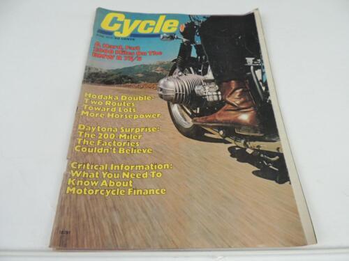 June 1972 CYCLE Magazine Hodaka Daytona Norton Yamaha BSA Gold Star L1531