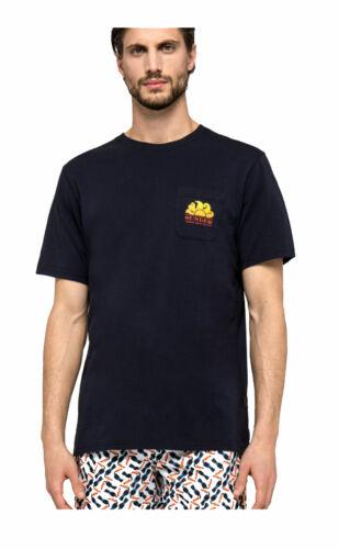 T-shirt Sundek new herbert M028TEJ7800 007 navy ss19